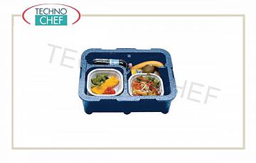 SINGLE-PASTE isothermal container, 2 compartments without tableware Monoking isothermal box Monoking, 2 insulated compartments without tableware, dim. internal mm 420x290x120h, dim. external mm 425x265x160h