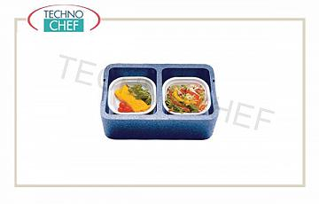 SINGLE-PASTE isothermal container, 2 compartments without tableware Isothermal box 2 independent compartments, dim. internal mm 380x220x120h, dim. external mm 425x265x165h