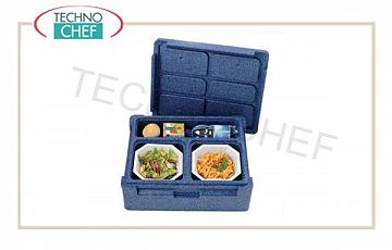 SINGLE-PASTE isothermal container, 3 compartments without tableware Polibox Thermoking SINGLE-PASTE isothermal container, 3 compartments without tableware