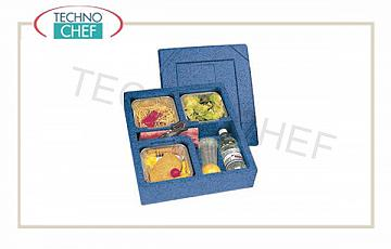 SINGLE-PASTE isothermal container, 4 compartments without tableware Domus SINGLE-CUP isothermal box, 4 COMPARTMENTS without tableware, internal dimensions mm 400x340x900h, dim. external mm 440x380x120h