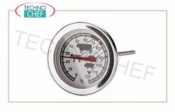 Pin thermometers Broaches thermometer, range from 0 ° to + 120 ° C, division 1 ° C, dial diameter 5 cm