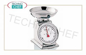 Mechanical scales Mechanical balance, stainless steel, rotating dial diameter 20 cm, flow rate 5 kg, division 20 grams
