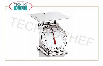 Mechanical scales Mechanical balance, stainless steel, rotating dial diameter 25 cm, flow 20 Kg, division 100 grams