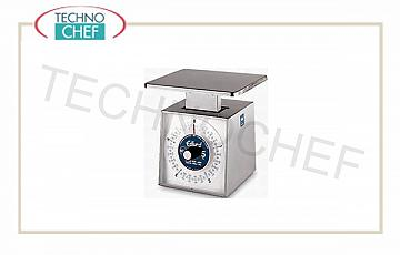 Mechanical scales Mechanical balance, stainless steel, with rotating dial, 1 kg capacity, 5 grams division, 18x22 cm size