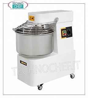 SPIRAL MIXER with 16 lt tank for 12 kg of dough SPIRAL MIXER, with head and fixed bowl of lt.16, mixing capacity 12 Kg, complete with kneader rod, timer and wheels, V. 230/1, Kw.0,75, Weight Kg.65, dim.mm .385x670x725h