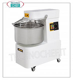 SPIRAL MIXER with 7 lt. Bowl for 5 kg of dough SPIRAL MIXER, with 7 cm fixed head and bowl, 5 kg mixing capacity, complete with kneader rod, timer and wheels, V.230 / 1, Kw.0.37, Weight Kg.41, dim.mm .240x500x500h