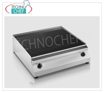 TECHNOCHEF - Electric hob / fry top with glass ceramic plate, mod.PFT.A.G2 GLASS CERAMIC HOB / FRY TOP, ELECTRIC table top, 2 INDEPENDENT COOKING ZONES of 2.5 + 2.5 kw, ADJUSTABLE TEMPERATURE from 50 ° to 400 ° C, V 230/1, Kw 2.5 + 2.5 , dimensions 640x670x200h mm