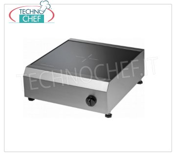 TECHNOCHEF - Table Induction Cooking Plate, Kw.2,5, Mod.PI40 / 1 Induction table plate with ceramic hob, 9 power levels, V.230 / 1, Kw.2.5, Weight 14 Kg, dim.mm.370x440x150h