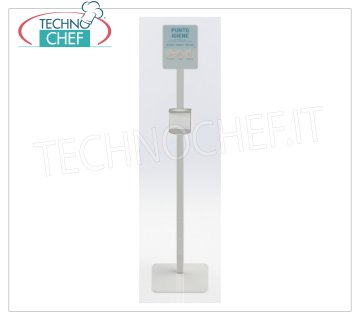 Floor stand for manual dispenser holder Floor-column for manual sanitizing gel dispenser, made of painted steel, dimensions 330x330x1668h mm