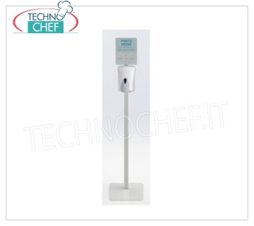 Floor stand with 1000ml Manual Sanitizing Gel Dispenser Stand-Column with Manual Dispenser for Sanitizing Gel 1000 ml, dimensions mm.330x330x1668h