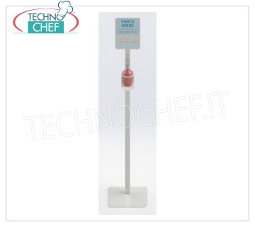 Stand with 500ml Manual Gel Dispenser Floor-Column with Manual Dispenser for Sanitizing Hand Sanitizer Gel 500 ml, dimensions mm.330x330x1668h