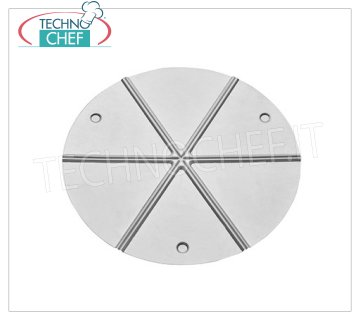 TECHNOCHEF - Aluminum Plate for Pizza, Ø 50 cm, Mod.941A / 50 Pizza tray in anodized aluminum, for 6-slice cutting, 50 cm diameter.