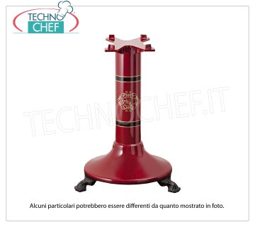 BERKEL - Pedestal P15 Red for flywheel slicer Red painted cast iron support pedestal for P15 Flywheel Slicer, Weight 62.5 Kg, dim.mm.585x550x790h