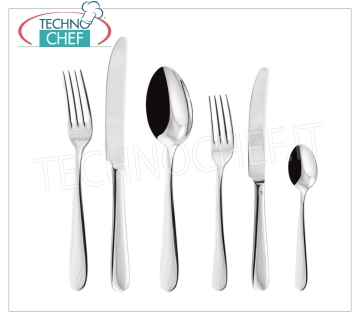 ARTHUR KRUPP - PADERNO, Cutlery in 18/10 Steel MONIKA Line, Silver Finish, for catering Monika Inox Table Spoon with SILVER Finish