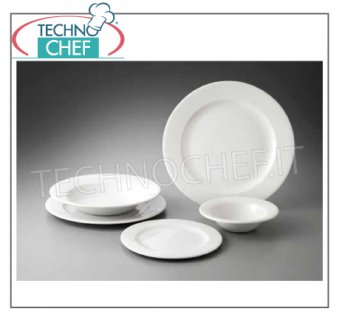 CHURCHiLL - Porcelain for Restaurant - WHITE PROFILE Collection PLATES, Profile White Collection, Brand CHURCHiLL