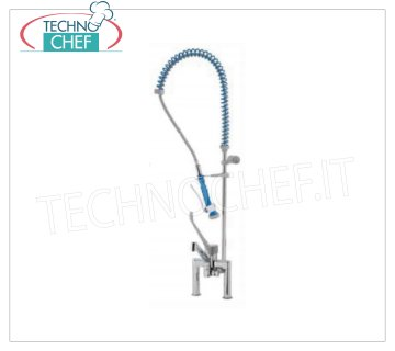 Countertop two-hole tap with suspended shower TWO-HOLE TAP, SINGLE LEVER with CLINICAL LEVER and SUSPENDED SHOWER