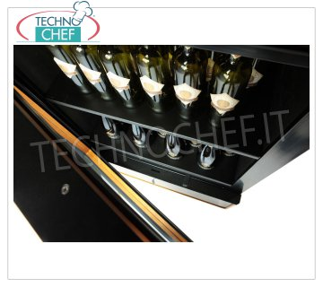 TECHNOCHEF - Shelf complete with 4 spacers, Mod.EF-RPN Shelf complete with 4 spacers, max 65 bottles bordolesi capacity, dim.mm.691x515x35h