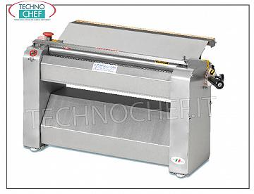 TECHNOCHEF - Professional pasta sheeter for pasta with 500 mm stainless steel rollers, Mod.SF500TX Pasta sheeter with stainless steel rollers LARGHI 500 mm, V 400/3, kW 0.60, dim. mm 750x450x450h