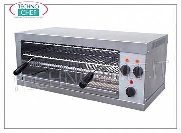 Toasters and toasters TOASTER with STAINLESS STEEL structure, QUARTZ resistance, time adjustment switch, internal chamber dimensions mm 320x220x270h, V.230 / 1, kw 2,0, external dimensions mm 440x240x380h