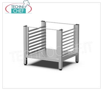 Unox - High Stand with Tray Holders - For 600x400 Ovens, model XEKRT-08EU-H High stand with lateral supports, distance between trays 60 mm, weight 10 kg, dimensions 794 mm x688x738h