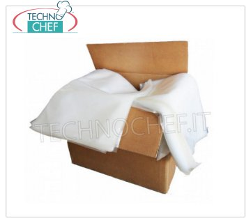 TECHNOCHEF - Smooth vacuum bags, 140 microns thick SMOOTH VACUUM BAGS for vacuum machines, THICKNESS 140 micron, SIZE 150x250 mm, PACKAGING of 2500 PIECES / CARDBOARD