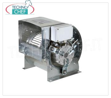 Centrifugal fan with direct coupling, double suction for suction bins Double suction centrifugal fan with motor directly coupled to the forward rotor blades, for installation in suction box, 1 SPEED, 6 poles, GIRI 900, max flow rate 1000 mᵌ / h, db 56, V.230 / 1, Kw.0, 2, dim.mm.317x232x325h