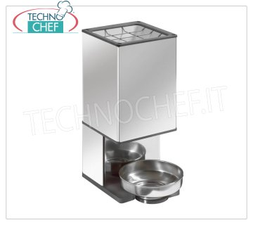 TECHNOCHEF - Professional Ice Breaker, Productivity 120 Kg / h, Mod. SGH Icebreaker made of stainless steel and plastic, production 120 kg / hour, ideal for producing pieces of ice, V.230 / 1, Kw.0.3, Weight 12.50 Kg, dim.mm.400x180x350h