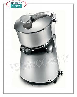 Electric citrus juicer with lever, professional Electric citrus juicer, manually operated with lever and lid, removable stainless steel tank, V.230 / 1, Kw.0.15, Weight 3.5 Kg, dim.mm.210x265x330h