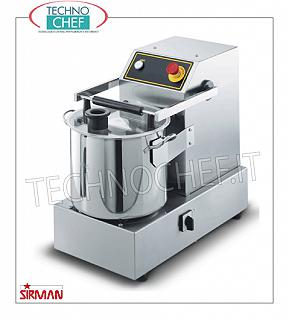SIRMAN - Table cutter with 14.5 liter bowl, professional, mod. C15B STAINLESS STEEL TABLE CUTTER, brand SIRMAN, tank capacity 14.5 lt, V.400 / 3, Weight 67 Kg, dim.mm.380x610x530h, VERSIONS with 1 or 2 SPEEDS