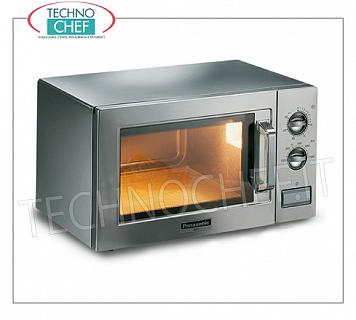 PANASONIC, Professional microwave oven mod. 1027, MANUAL COMMANDS PANASONIC Professional microwave oven, with MANUAL CONTROLS, 300mm x 3030x200h chamber, suitable for GN 1/2 pans, power output W 1000, 1 magnetron 1000 W, V.230 / 1, Kw.19, weight 18 Kg, dim.mm.510x360x306h