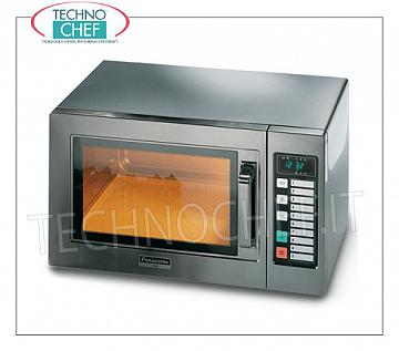 PANASONIC, Professional microwave oven mod NE1037, DIGITAL CONTROLS PANASONIC Professional microwave oven, DIGITAL COMMANDS with 10 programs, 300x330x200h chamber, suitable for GN 1/2 pans, power output W 1000, 1 magnetron 1000 W, V.230 / 1, Kw.19, weight 18 Kg, dim.mm.510x360x306h