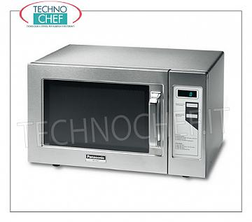PANASONIC, Professional microwave oven, mod. NE1037S, DIGITAL CONTROLS PANASONIC Professional microwave oven, DIGITAL CONTROLS with 2 pre-set programs, 300x330x200h chamber, suitable for GN 1/2 pans, 1000 W magnetron output power of 1000 W, V.230 / 1, Kw.14.9 , weight 18 Kg, dim.mm.510x360x306h