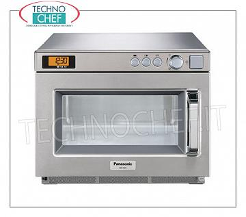 PANASONIC, Professional microwave oven, mod. NE1843, MANUAL COMMANDS PANASONIC Professional microwave oven, with MANUAL CONTROLS, 330x310x175h mm chamber, suitable for GN 1/2 pan, W 1800 output power, 2 900W magnetron, V.230 / 1, Kw.2,83, weight 30 Kg, dim .mm.442x508x337h