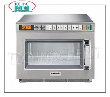 PANASONIC - Technochef, Professional microwave oven, mod. NE2153-2, DIGITAL CONTROLS PANASONIC Professional Microwave Oven, DIGITAL CONTROLS with 30 programs, 330x310x175h mm chamber, suitable for GN 1/2 pan, W 2100 power output, 2 1050 W magnetron, V.230 / 1, Kw.3,16, weight 30 Kg , dim.mm.442x508x337h