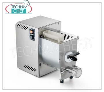 Technochef - EXTRUDED FRESH PASTA MACHINE with TANK 2,1 Kg, Professional, Mod.SINFONIA2 Extruded fresh pasta machine for table, with bowl for 2,1 Kg of dough, hourly output Kg 4,2, V.230 / 1, Kw.0,37, weight 28 Kg, dim.mm.263x577x407h