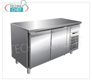 Forcar - Frigor Table 2 Doors, Temp. -2 ° / + 8 ° C, lt. 228, Ventilated, Class B, mod.G-SNACK2100TN Refrigerated Counter Table 2 DOORS and neutral drawer, Professional, SNACK Line, temp. -2 ° / + 8 ° C, capacity 228 liters, ventilated refrigeration, ECOLOGICAL in Class B, Gas R290, V.230 / 1, Kw.0, 26, Weight 88 Kg, dim.mm.1360x600x860h