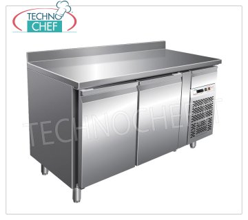 Forcar-Frigor Table 2 Doors with Upstand, Temp. -2 ° / + 8 ° C, lt. 228, Ventilated, Class B, G-SNACK2200TN Refrigerated Counter Table 2 DOORS with upstand and neutral drawer, Professional, SNACK Line, temp. -2 ° / + 8 ° C, capacity 228 liters, ventilated refrigeration, ECOLOGICAL in Class B, Gas R290, V.230 / 1, Kw. 0,26, Weight 97 Kg, dim.mm.1360x600x860 / 960h