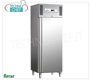 Forcar - Freezer-Freezer cabinet, lt. 429, Static, Temp. -18 ° / -20 ° C, Class D, model G-SNACK44BT Refrigerator / Freezer cupboard, Professional, Snack Line, 1 door, capacity lt. 429, temp. -18 ° / -20 ° C, Static with fan and internal air conveyor, ECOLOGICAL in Class D, Gas R290, V.230 / 1, Kw. 0,49, Weight 135 Kg, dim.mm.680x700x2000h