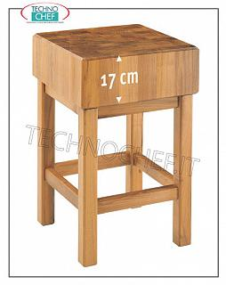 Butcher Blocks in Acacia Wood 17 cm thick with Pedestal Wooden block with pedestal