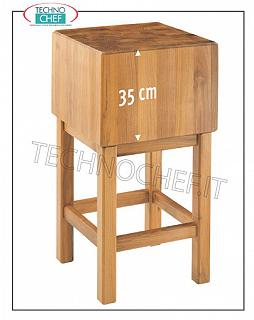 Butcher Blocks in Acacia wood 35 cm thick with Pedestal Butcher's block in wood with pedestal