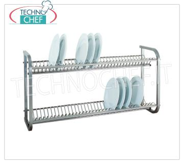 Stainless steel dish drainer with 2 shelves Dish drainer shelf in 18/8 polished stainless steel, with 2 shelves, dim.mm.1040x300x550h