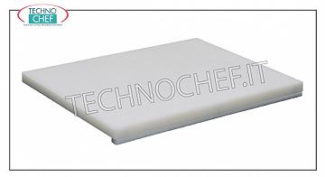 Technochef - Polyethylene chopping boards with Stopper, 25 mm thick Polyethylene cutting board with stop