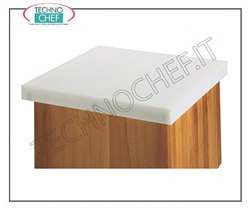 Polypropylene butcher cups Polyethylene cover 25 mm thick, 4 edges, dimensions 350x350x25h mm