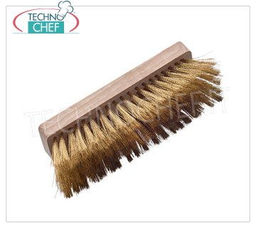 TECHNOCHEF - Replacement Rectangular Wooden Brush without Handle, Mod. 2764 / R22 Replacement brush for rectangular wooden oven cm.22.5, without handle.