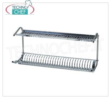 Stainless steel dish drainer-drainer with 2 shelves Shelf for dish / glass drainer in 18/8 polished stainless steel, with 2 shelves, dim.mm.800x260x370h