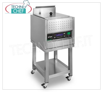 Technochef - SEMI-AUTOMATIC CUTLERY DRYER, max 40 cutlery productivity per cycle, Mod.STAR SEMI-AUTOMATIC CUTLERY GLOSSY DRYER on stand with wheels, for CUTLERY and SMALL UTENSILS, YIELD 40 cutlery per cycle of 50 seconds, LOADING and EXTRACTION of the MANUAL cutlery basket, V.230 / 1, Kw.0,75, dimensions mm 440x480x940h