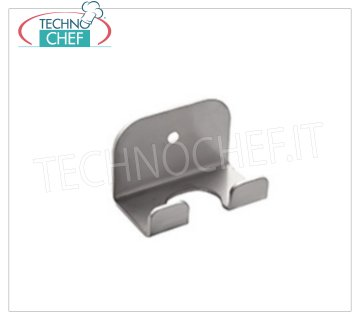 TECHNOCHEF - Wall Shovel Support, Mod.2800 / 1 18/10 stainless steel wall shovel support, 1 place, dim.cm.6x3.5x4h