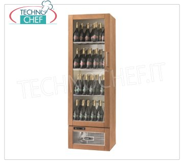 Technochef - 72 Bottle Wine Refrigerator, Static Multi-temperature, Temp. + 6 ° / + 12 ° C. Refrigerated Wine Cellar for Wines, 1 Glass door, capacity 72 Bottles, Temperature + 6 ° / + 12 ° C, Static, Led lighting, V.230 / 1, Kw.0,275, Weight 99 Kg, dim.mm. 590x551x1925h