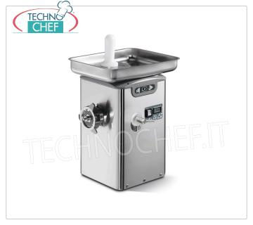 Technochef - REFRIGERATED MEAT MINCER, with MOUTH 22, YIELD 350 Kg / h, mod. TC22BARCELONAICE REFRIGERATED MEAT MINCER, with MOUTH 22, with THERMOELECTRIC COOLING SYSTEM on neck and mouth, YIELD 350 Kg / h, professional, Industrial, V.230 / 1, Kw.1,1, Weight 34 Kg, dim.mm.310x350x540h