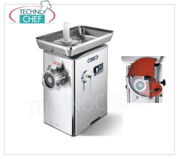 Technochef - REFRIGERATED MEAT GRINDER, with BOCCA 32, mod. TC32BARCELLONAICE REFRIGERATED MEAT GRINDER, with BOCCA 32, brand SIRMAN, THERMOELECTRIC COOLING SYSTEM on the neck and mouth, YIELD 500 Kg / h, version with predisposition HAMBURGATRICE, Professional, Industrial, V.230 / 1, Kw.18.84, Weight 48 Kg, dim .mm.355x500x580h